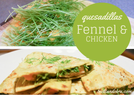 Fennel & Chicken Quesadillas